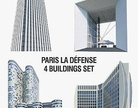 3D asset La Defense Buildings Collection
