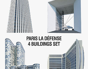 3D asset La Defense Buildings Collection