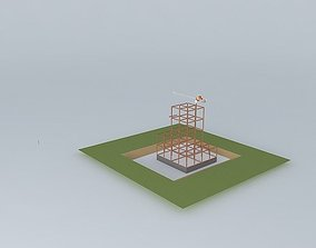 HIGH RISE CONSTRUCTION SITE 3D model