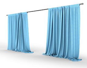 Detailed Curtain fbx 3D