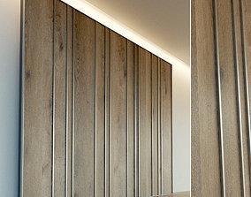 Wooden wall panel 68 3D asset