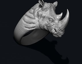 3D printable model Rhino ring big