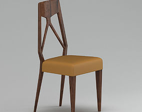 3D Dark Brown And Yellow Chair