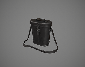 Black Leather Binocular Bag 3D model