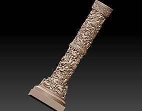 Chinese pillar with dragon pattern 3D print model