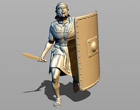 3D print model Roman legionary in attack