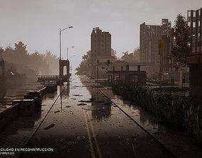 3D model Destroyed city