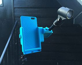 3D print model Snap-Clip iPhone 6 Plus Microphone Stand