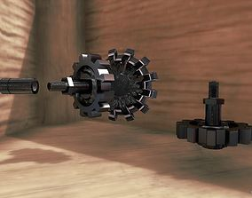 realtime Gears VR high-poly low-poly 3D model