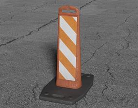 3D model Vertical Panel Safety Sign variant