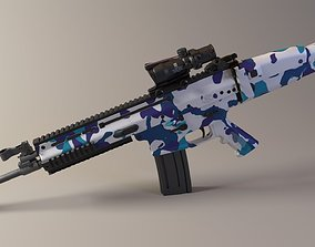 3D model Scar-L Assault Rifle technology