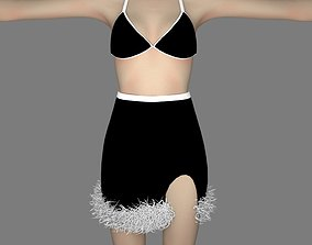 nice skirt and bra - 8 different colors 3D model