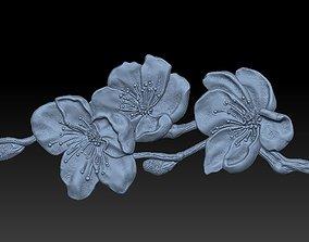 Katana-Sakura- relief 3D print model