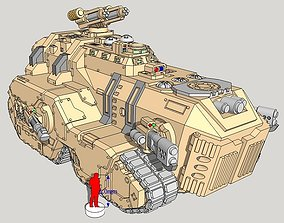 6mm and 8mm Maxadon Assault Vehicle 3D printable model