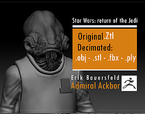 Erik Bauersfeld - Admiral Ackbar - 3D printable model 5