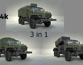 3D asset Ural 4320 3 in 1