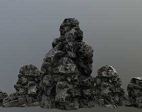 3D asset game-ready rocks mount