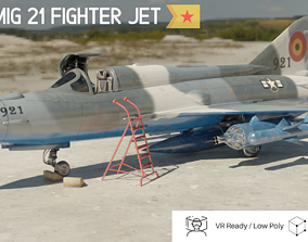 3D asset MiG 21 - Rigged and Animated - with Interior -