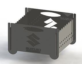 3D print model Grill with Suzuki logo 300x300 for laser