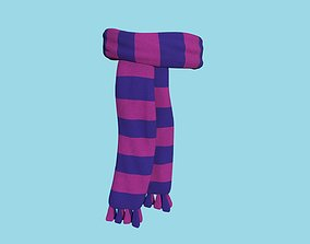 Purple Blue Scarf - Character Design - Clothing 3D model
