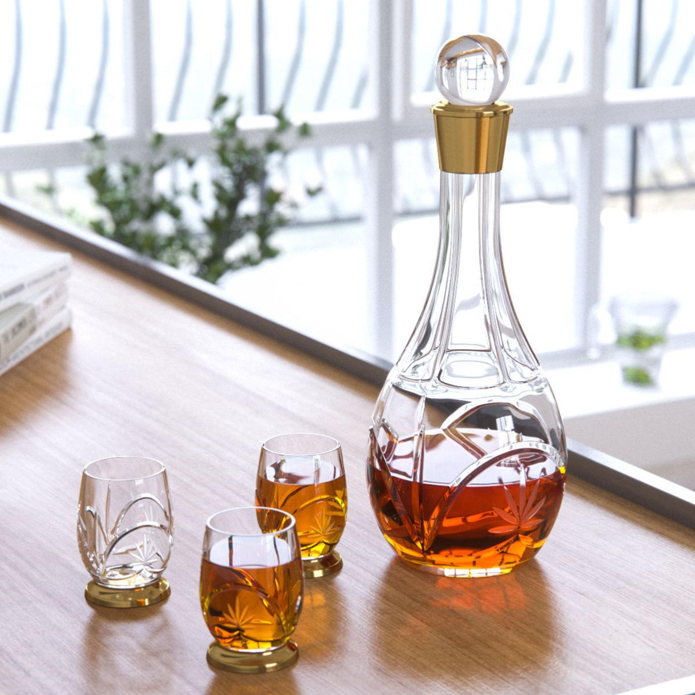 Cognac Crystal Glass Set