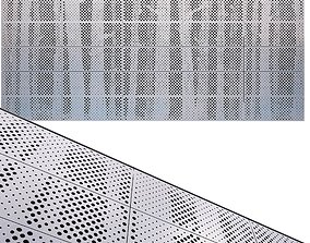 perforated metal panel N23 3D