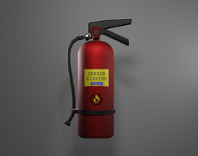 Fire Extinguisher 3D asset realtime flame