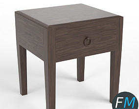 One drawer bedside table 3D