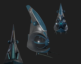 Spaceship 3D asset realtime PBR gameready