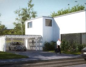 3D asset House 2 - Modern City Villa