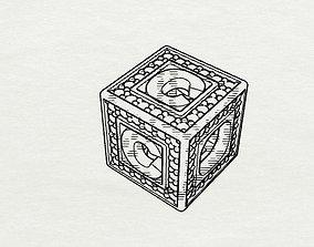 3D print model Baby Block Charm - C