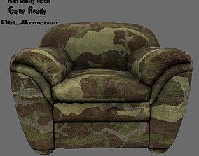 Armchair divan 3D asset
