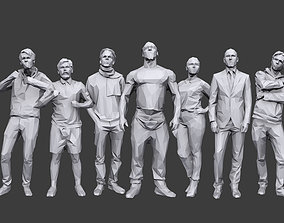 Lowpoly People Casual Pack Volume 14 3D asset realtime
