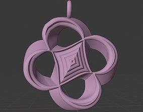 Lover Daisy Flower Necklace Pendant 2 3D printable model