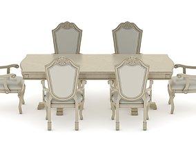 Suzi 7 Pieces Extendable Dining Set Astoria Grand 3D model