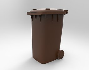 3D printable model trash can