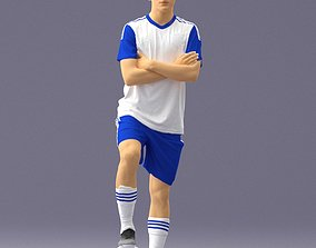 Soccer player 1114-4 3D Print Ready ball