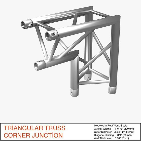 Triangular Truss Corner Junction 107