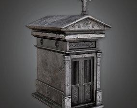CEM - Cemetery Mausoleum 01 -PBR Game Ready 3D model