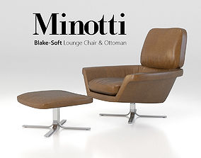 3D Minotti Blake-Soft lounge chair set