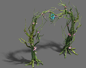 Wizard forest - tree door - tree light 3D model