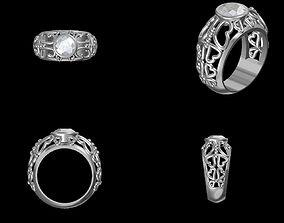 Heart ring rings 3D printable model