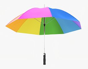 3D model Umbrella large automatic colorful