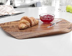 Breakfast cutting board 3D