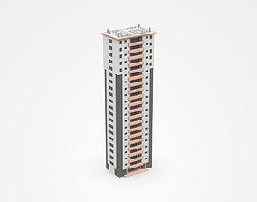 3D High Multi-storey Apartment