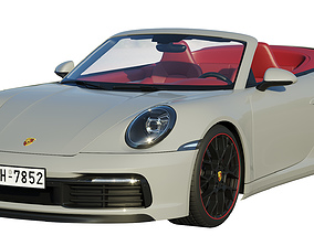 Porsche 911 carrera Cabriolet 2019 3D model