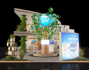 20x8 Island Exhibition 2 Floors Stand 3D Model