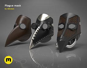 Plague mask 3D printable model
