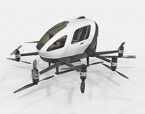 Drone Taxi Animated Ehang 216 3D model