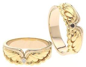 3D print model Angel Wings Wedding Ring